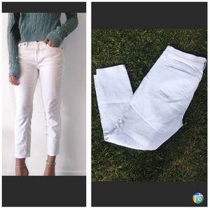 JCrew white cropped jeans size 27/28
